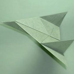 简单的儿童纸飞机折纸 折一架帅气喷气式飞机