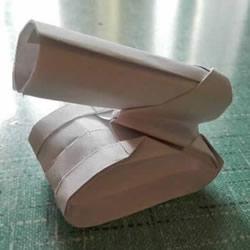 简单现代兵器折纸教程 可爱小坦克的折法图解