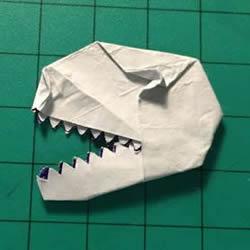 口香糖纸废物利用 手工折纸恐龙头图解教程