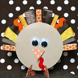 感恩节火鸡手工制作 利用卡纸做可爱火鸡摆饰
