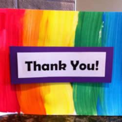 感恩节彩虹卡片的做法 儿童手工制作彩虹贺卡