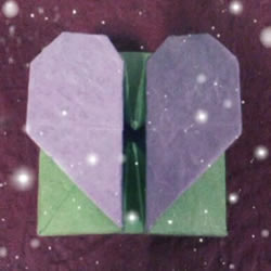 情侣互赠礼物的包装盒 漂亮爱心礼品盒的折法