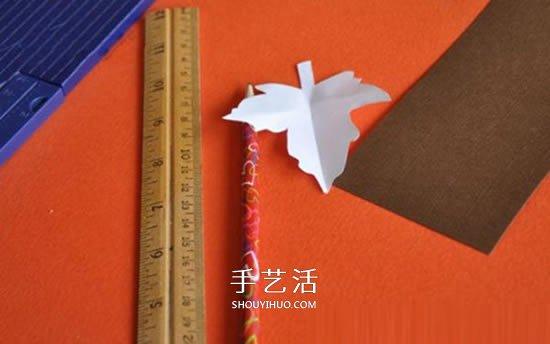 卡纸手工制作南瓜和树叶 做成漂亮万圣节挂饰 -  www.shouyihuo.com