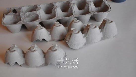 鸡蛋托蝙蝠手工制作 简单做成可爱万圣节挂饰 -  www.shouyihuo.com