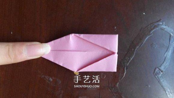超简单的折纸教程 美丽荷花的折法步骤图解