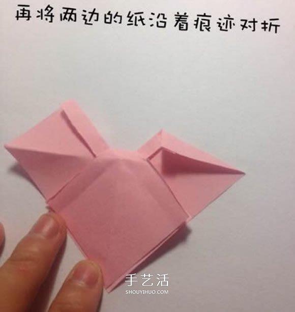 折纸蝴蝶结的步骤和图解 简单的蝴蝶结怎么折