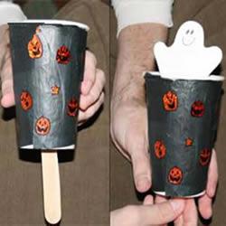 万圣节玩具手工小制作 利用纸杯制作幽灵玩具