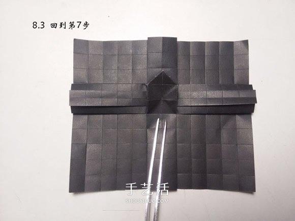 折纸蝴蝶的详细步骤图 手工菜粉蝶的折法图解 -  www.shouyihuo.com