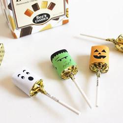 万圣节糖果包装DIY 简单做成可爱的怪物风格