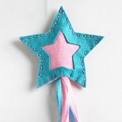 漂亮魔法棒怎么做图解 布艺五角星魔法棒DIY