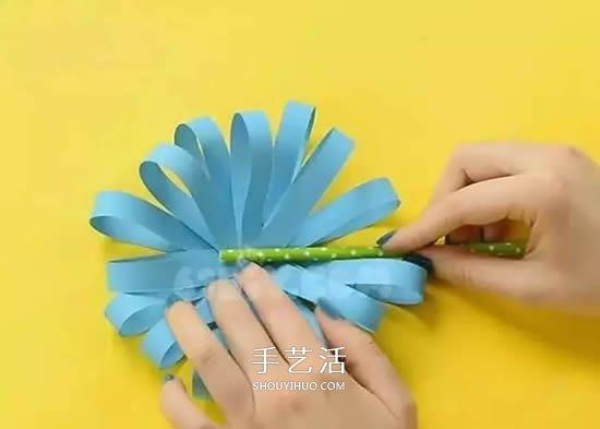 重阳节儿童小手工 漂亮又可爱卡纸菊花的做法 -  www.shouyihuo.com