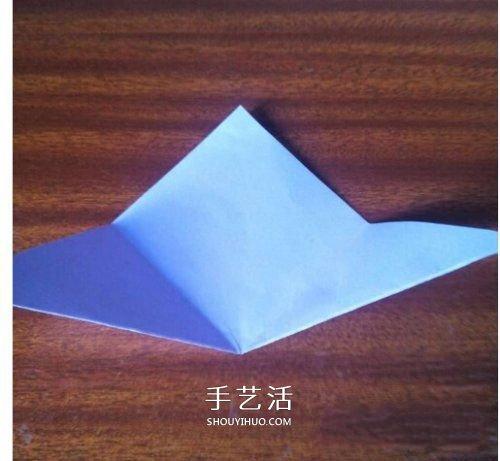 最简单心形的折纸教程 幼儿园折纸爱心图解 -  www.shouyihuo.com
