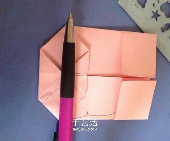有创意纸盒/纸篮折纸图解 衬衫领带很可爱! -  www.shouyihuo.com
