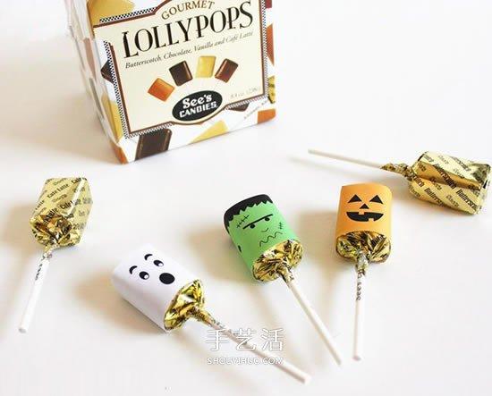万圣节糖果包装DIY 简单做成可爱的怪物风格 -  www.shouyihuo.com