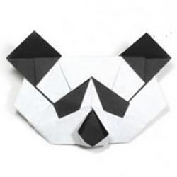 手工熊猫脸的折纸方法 怎么折叠熊猫头教程
