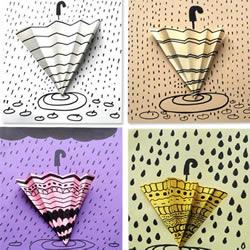 简单立体雨天卡片的做法 手工制作小雨伞卡片