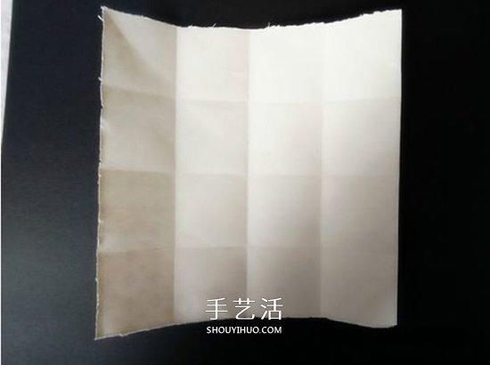 简单格子爱心怎么折 格纹桃心的折叠方法图解 -  www.shouyihuo.com
