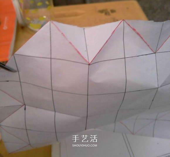罗斯巴德玫瑰花的折法 折纸卷心福山的步骤图