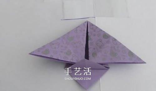 简单飞机手偶的折法 幼儿手工折纸手偶小飞机 -  www.shouyihuo.com