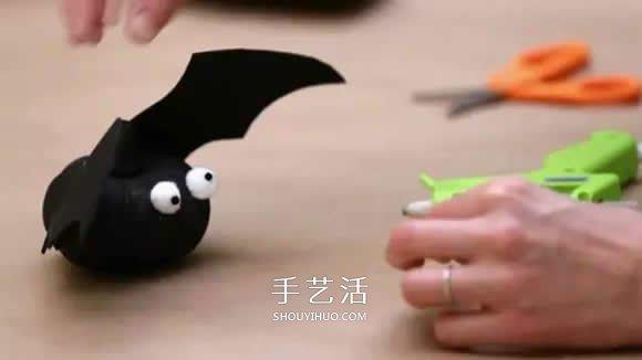 万圣节幼儿园南瓜手工 可爱僵尸和蝙蝠南瓜怪 -  www.shouyihuo.com