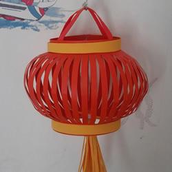 春节手工灯笼的做法 简单卡纸红灯笼DIY图解