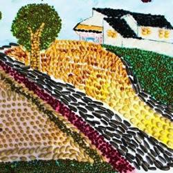 幼儿园老师作品:漂亮衍纸画和拼豆画欣赏