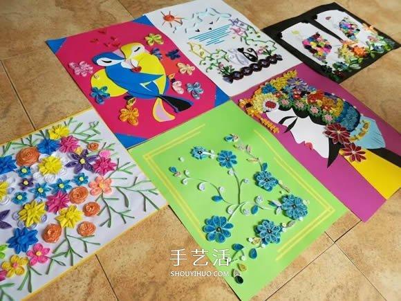 幼儿园老师作品:漂亮衍纸画和拼豆画欣赏 -  www.shouyihuo.com