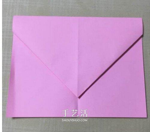 最简单纸飞机折纸图解 飞起来非常平稳持久 -  www.shouyihuo.com