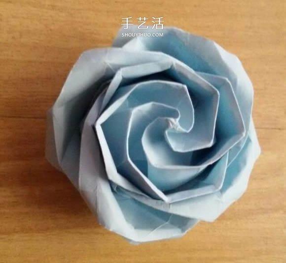 卷心川崎玫瑰折法图解 详细川崎卷心玫瑰折法