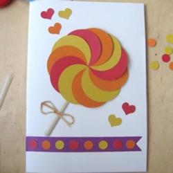 情人节棒棒糖贺卡的做法 七夕情人节贺卡制作