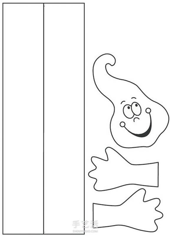 卡通幽灵风铃的做法 简单万圣节纸风铃制作 -  www.shouyihuo.com
