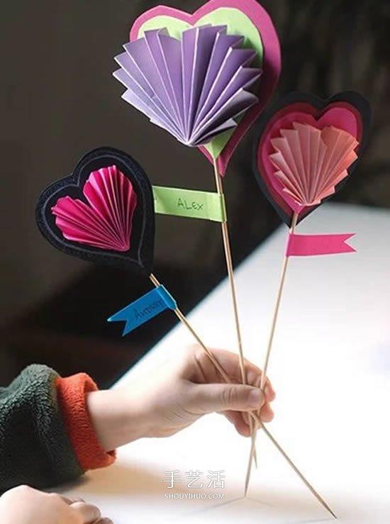 创意爱心卡片手工制作 情人节或母亲节都合用 -  www.shouyihuo.com