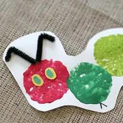 简单又可爱小手工 幼儿园卡纸做毛毛虫的教程