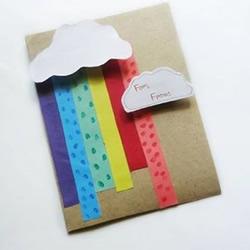 雨后见彩虹 漂亮励志彩虹贺卡的制作方法