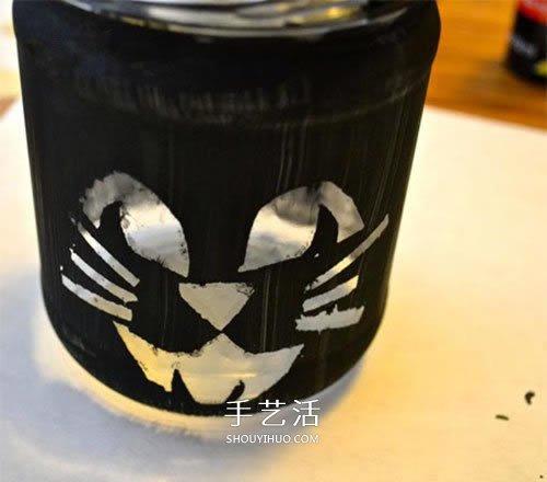 万圣节玻璃灯笼的做法 玻璃瓶废物利用做灯笼 -  www.shouyihuo.com