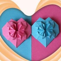 """情人节创意折纸 爱的""""心花怒放""""折纸图解"""