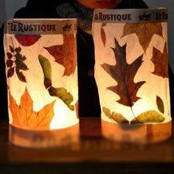 树叶灯笼的制作方法图片 把落叶捡回利用起来
