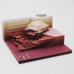 创意纸雕便条纸 全撕完就变成绝美纸雕模型!