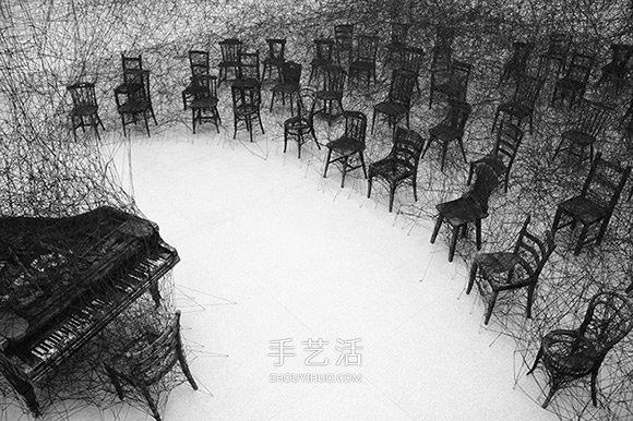 Chiharu Shiota塩田千春的大型针线装置艺术 -  www.shouyihuo.com
