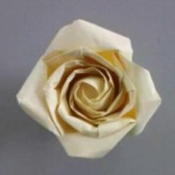 AP玫瑰折纸方法图解 漂亮花型玫瑰怎么折图解