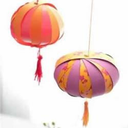 用卡纸做灯笼的方法图片 可爱漂亮的小南瓜