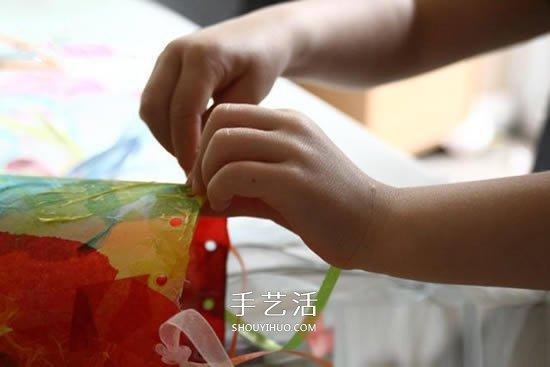 塑料瓶手工制作灯笼 适合孩子的简单新年手工 -  www.shouyihuo.com