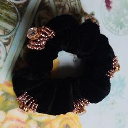 普通发圈改造教程 DIY好看串珠发圈的方法