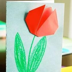 简单折纸康乃馨 LadBrokes官网做一张漂亮的母亲节贺卡
