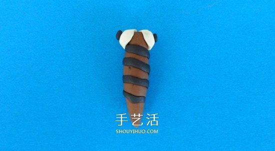 用树叶做翅膀 简单省力的粘土蝴蝶手工制作 -  www.shouyihuo.com