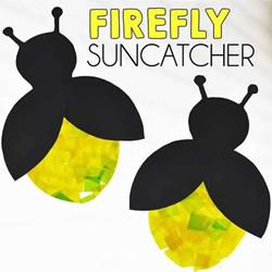 夏天夜晚的美丽舞者 卡纸手工制作可爱萤火虫