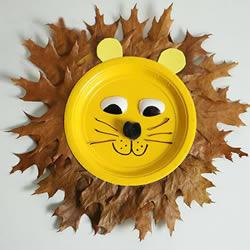 幼儿纸餐盘废物利用 做一只可爱的大狮子做法