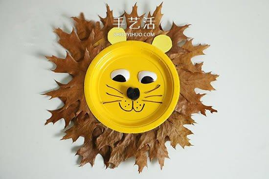 幼儿纸餐盘废物利用 做一只可爱的大狮子做法 -  www.shouyihuo.com