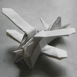 双翼飞机的折纸方法 怎么折双翼机的步骤图