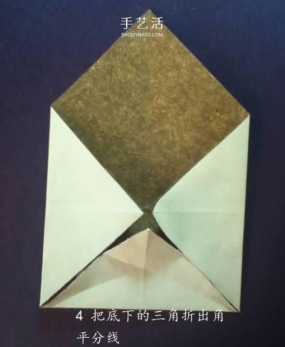 猫头戒指的折纸方法图解